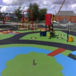 Playground Trim Trail Equipment in Auchtertool 9