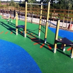 Playground Trim Trail Equipment in Aston Botterell 5