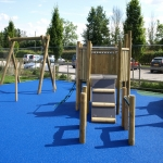 Playground Trim Trail Equipment in Aston Botterell 10