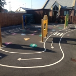Playground Trim Trail Equipment in Abbots Bromley 4