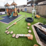 Playground Trim Trail Equipment in Asney 4