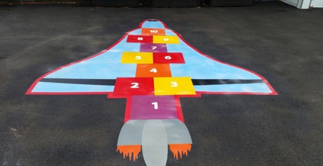 School Playground Markings in Lisburn