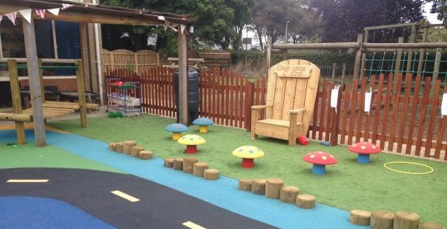 Nursery play area features for Kindergarten playground design