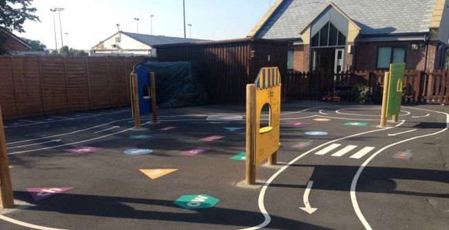 School Playground Panels in Tyne and Wear