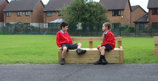 School Playground Seating in Abermorddu