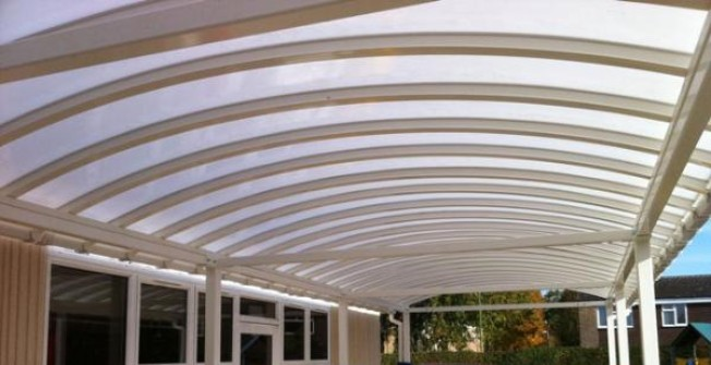 School Sun Canopy in Wrexham