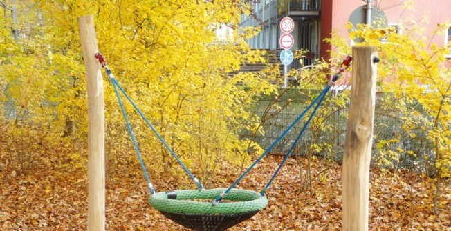 School Playground Swings in Abbeydale Park